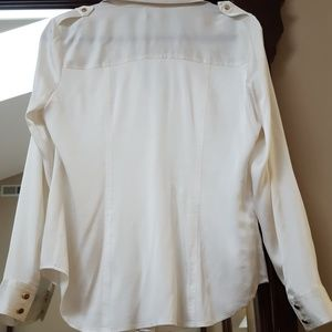 Cache Tops - Button down silk blouse